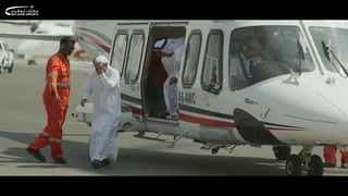 VIP's take aerial tour of the MTB for UAE Civil Aviation Day