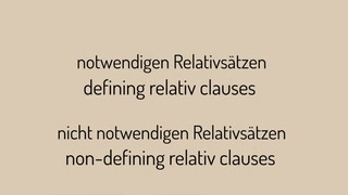 Was sind relative clauses?